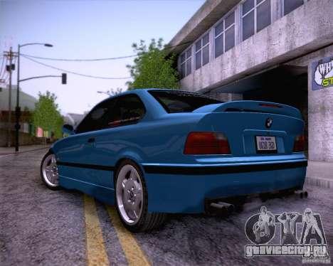 BMW M3 E36 1995 для GTA San Andreas вид снизу