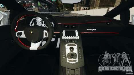 Lamborghini Aventador LP700-4 2012 для GTA 4 вид сзади