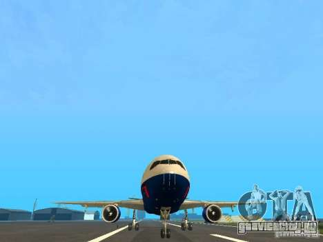 McDonell Douglas DC10 British Airways для GTA San Andreas вид сзади