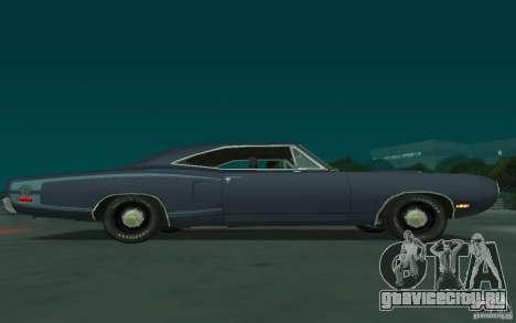 Dodge Coronet Super Bee 1970 для GTA San Andreas вид сзади