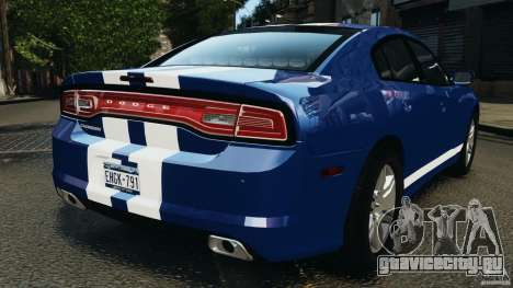 Dodge Charger Unmarked Police 2012 [ELS] для GTA 4 вид сзади слева