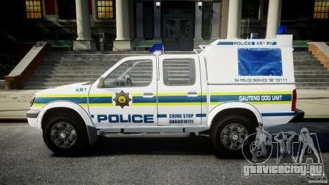 Nissan Frontier Essex Police Unit для GTA 4 вид слева