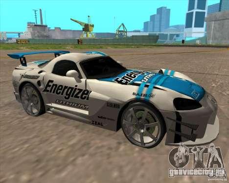 Dodge Viper Energizer для GTA San Andreas вид слева