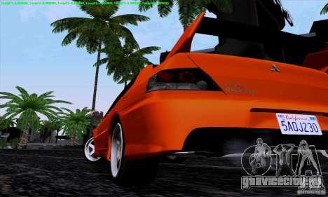 Mitsubishi Lancer Evolution IX 2006 для GTA San Andreas вид справа