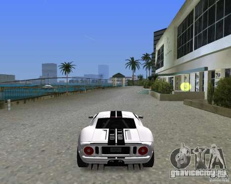 Ford GT для GTA Vice City вид сзади слева