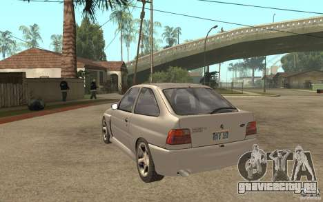 Ford Escort RS Cosworth 1992 для GTA San Andreas вид сзади слева