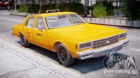 Chevrolet Impala Taxi 1983 для GTA 4 вид слева