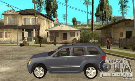 Jeep Grand Cherokee SRT8 v2.0 для GTA San Andreas вид слева