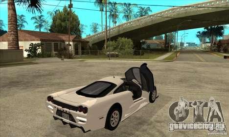Saleen S7 Twin Turbo для GTA San Andreas вид справа