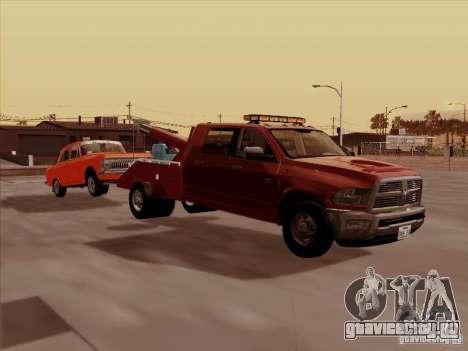 Dodge Ram 3500 TowTruck 2010 для GTA San Andreas вид сзади слева