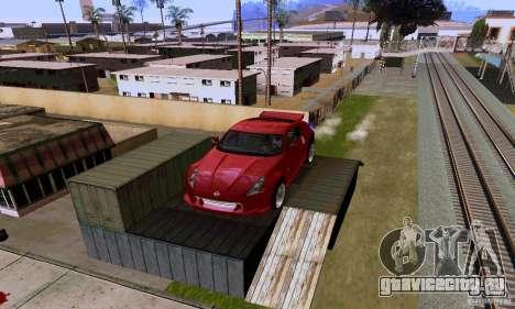 Nissan 370Z для GTA San Andreas вид снизу