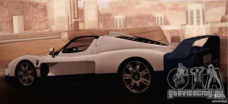 Maserati MC12 V1.0 для GTA San Andreas вид изнутри