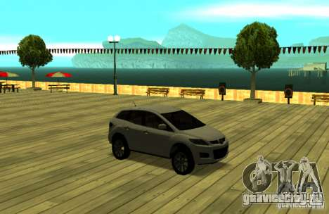Mazda CX7 для GTA San Andreas вид сзади