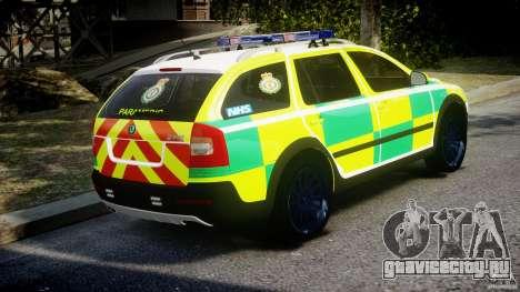 Skoda Octavia Scout Paramedic [ELS] для GTA 4 вид изнутри