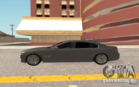 BMW 730d для GTA San Andreas вид сзади