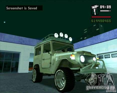 Toyota Land Cruiser FJ40 для GTA San Andreas