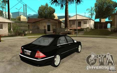 Mercedes-Benz S600 для GTA San Andreas вид справа