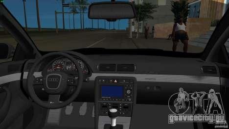 Audi RS4 для GTA Vice City вид изнутри