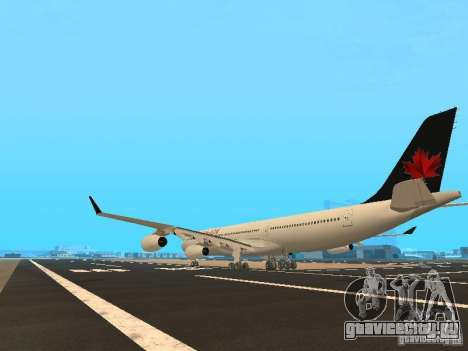 Airbus A340-300 Air Canada для GTA San Andreas вид сзади слева