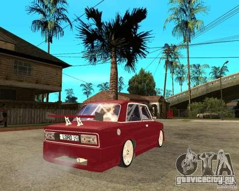 Ваз 2106 Lord для GTA San Andreas вид сзади слева
