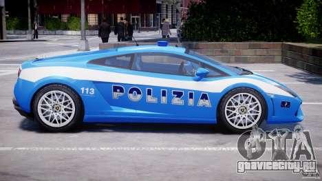 Lamborghini Gallardo LP560-4 Polizia для GTA 4 вид снизу