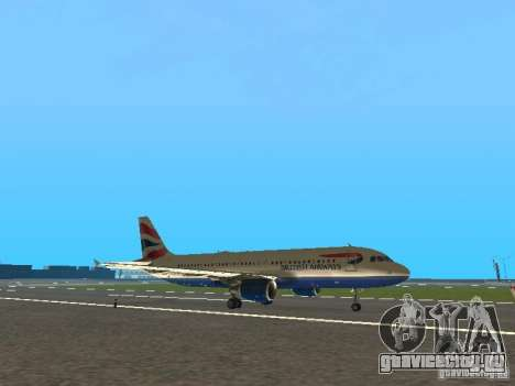 Airbus A320 British Airways для GTA San Andreas вид слева