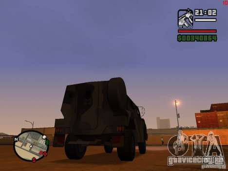 Australian Bushmaster для GTA San Andreas вид сзади слева