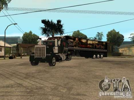 Custom Kenworth w900 - Custom - Trailer для GTA San Andreas вид справа