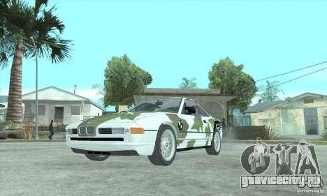 BMW 850i для GTA San Andreas вид изнутри