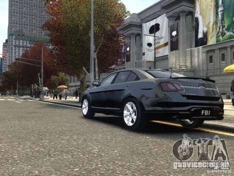 Ford Taurus FBI 2012 для GTA 4 вид сзади слева