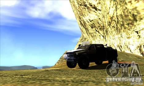 Dodge Ram All Terrain Carryer для GTA San Andreas вид сверху