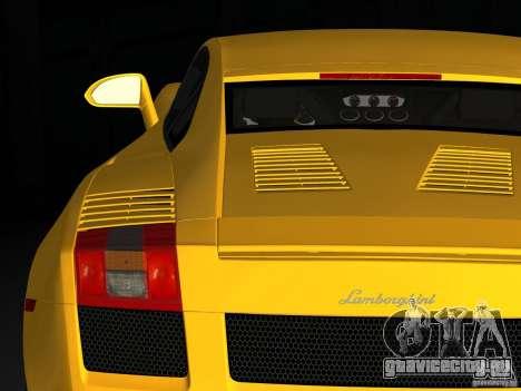 Lamborghini Gallardo для GTA Vice City вид сзади слева