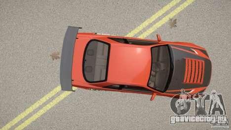 Nissan Skyline GT-R R34 Underground Style для GTA 4 вид сзади