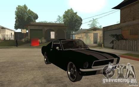 Ford Mustang TOKYO DRIFT для GTA San Andreas вид сзади