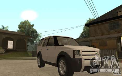 Land Rover Discovery 3 V8 для GTA San Andreas вид сзади