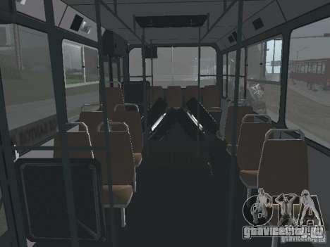 Прицеп для ЛиАЗ 6212 для GTA San Andreas вид изнутри