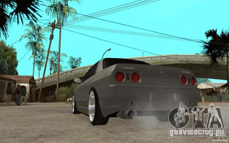 Nissan Skyline R32 - EMzone Edition для GTA San Andreas вид сзади слева