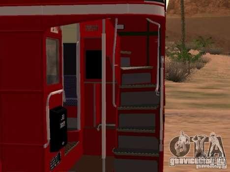 AEC RouteMaster RML для GTA San Andreas вид изнутри