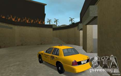 Ford Crown Victoria Taxi для GTA Vice City вид сзади слева