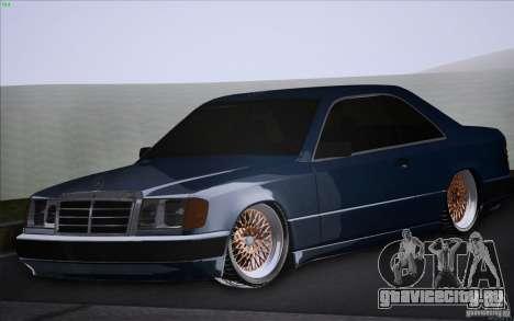 Mercedes-Benz W124 Low Gangster для GTA San Andreas