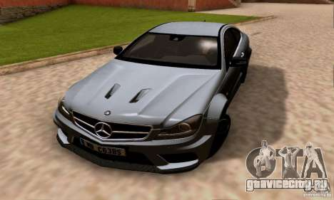 Mercedes-Benz C63 AMG для GTA San Andreas вид сверху