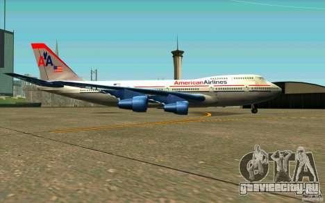 B-747 American Airlines Skin для GTA San Andreas вид сзади слева