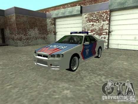 Nissan Skyline Indonesia Police для GTA San Andreas