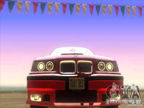 BMW E36 для GTA San Andreas вид сбоку