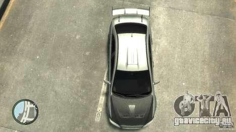 Mitsubishi Lancer Evo X Drift для GTA 4 вид изнутри