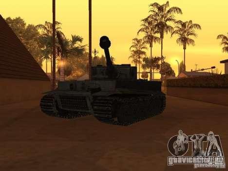 Pzkpfw VI Tiger для GTA San Andreas вид справа