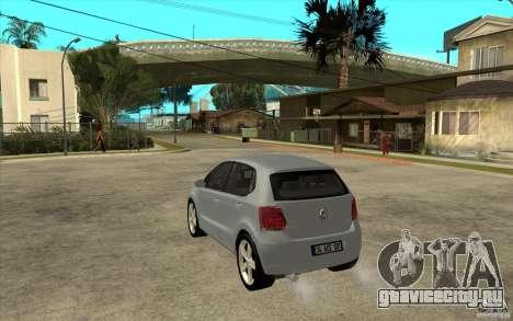 Volkswagen Polo 2011 для GTA San Andreas вид сзади слева