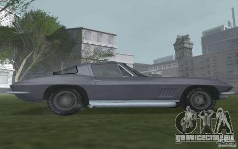Chevrolet Corvette 427 для GTA San Andreas вид сзади слева