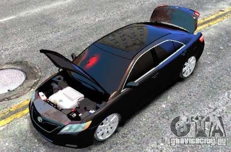Toyota Camry V6 3.5 2007 для GTA 4 вид справа