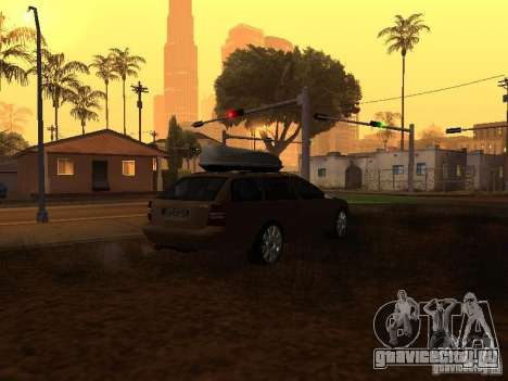 Skoda Octavia для GTA San Andreas вид изнутри